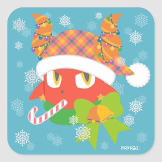 Daimon holiday square sticker