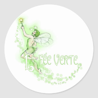 Dainty Absinthe La Fee Verte I Round Sticker