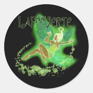 Dainty Absinthe La Fee Verte II Round Sticker