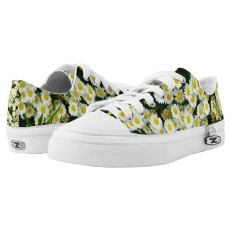 Dainty Daisy Buttons, Zipz Printed Sneakers. Low Tops