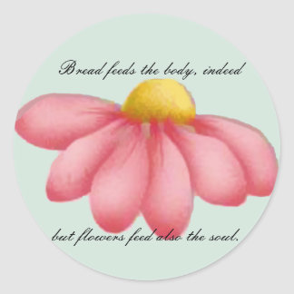 Dainty Day Postage Stamps & Note Cards Round Sticker