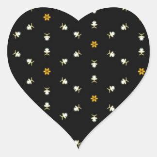 Dainty Floral Pattern Heart Sticker