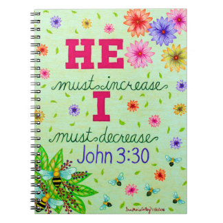 Dainty Floral Typography Bible Verse On Humility Notebooks