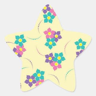 Dainty Flowers Star Sticker