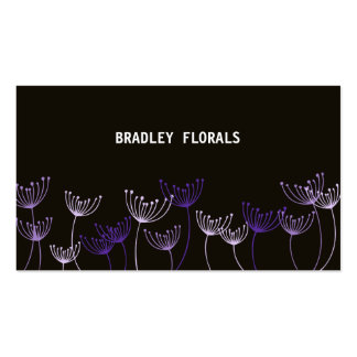 Dainty Garden Purple Business Card