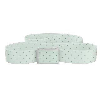 Dainty Green Polka Dots Pattern on a Lighter Green Belt