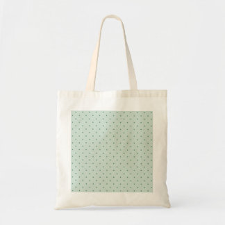 Dainty Green Polka Dots Pattern on a Lighter Green Budget Tote Bag