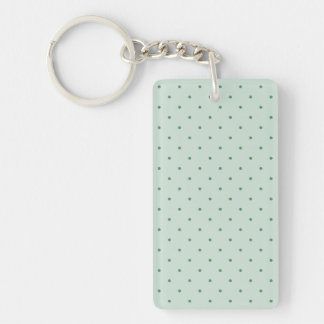 Dainty Green Polka Dots Pattern on a Lighter Green Key Ring
