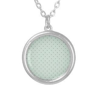 Dainty Green Polka Dots Pattern on a Lighter Green Necklaces