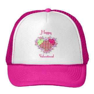 Dainty Happy Valentines! Mesh Hats