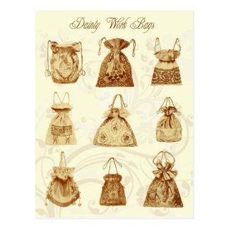 Dainty Ladies Work Bags Postcard