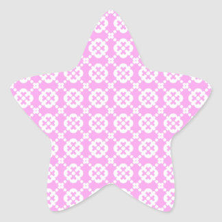 Dainty Pastel Pattern Star Sticker