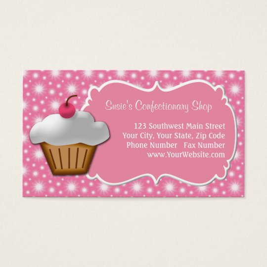 Dainty Pink Cupcake Business Card