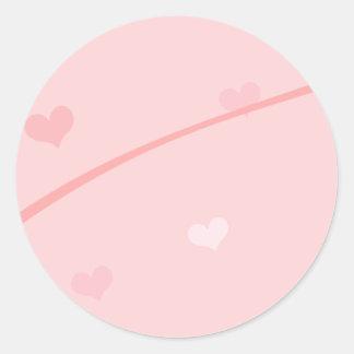 Dainty Pink Heart Background Sticker