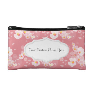 Dainty Plum Blossoms Cosmetic Bag