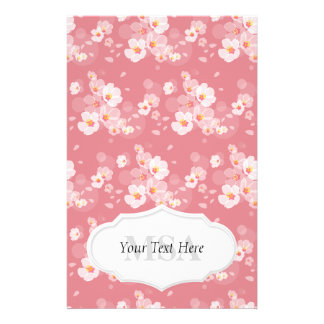 Dainty Plum Blossoms Personalized Stationery