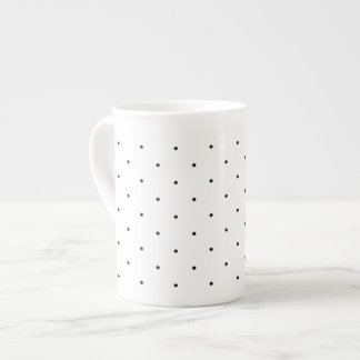 Dainty Polka Dots Black and White Tea Cup