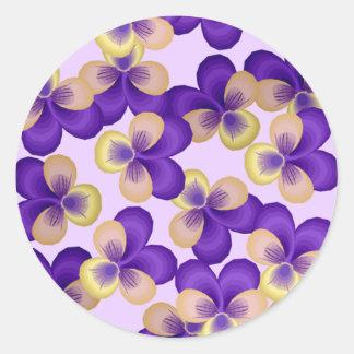 Dainty Purple Flowers Stickers