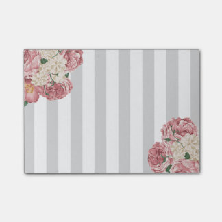 Dainty, Rose and Stripes Post-it Notes