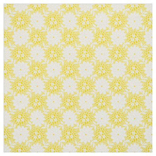 Dainty Summer Yellow Floral Pattern Fabric