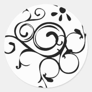 Dainty Vine Round Stickers