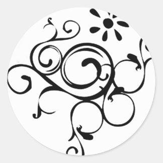 Dainty Vine Round Sticker