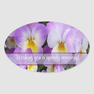 Dainty Violas ~ Oval Sticker