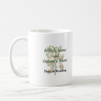 Dainty White Orchids Wedding Products Basic White Mug
