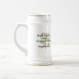 Dainty White Orchids Wedding Products Beer Steins