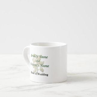 Dainty White Orchids Wedding Products Espresso Mug