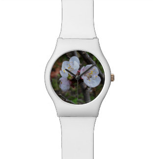 Dainty White Spring Blossoms, Ladies White Watch