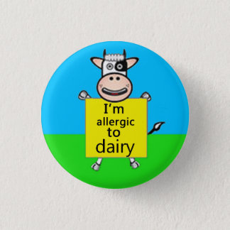 Dairy Allergy Alert 3 Cm Round Badge