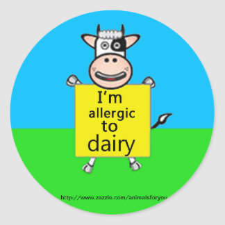 Dairy Allergy Alert Classic Round Sticker