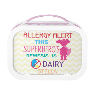 Dairy Allergy Alert Superhero Girls Lunchbox