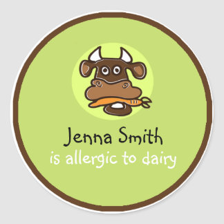 Dairy Allergy Customizable Sticker