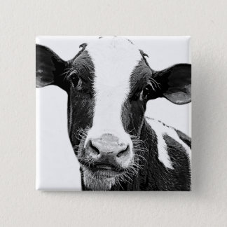 Dairy Cow - Black and White Dairy Calf 15 Cm Square Badge