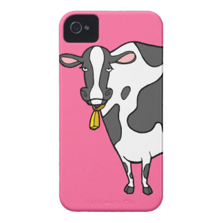 Dairy Cow Cartoon iPhone 4 Case