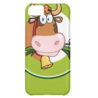 Dairy Cow Cartoon Logo Mascot iPhone 5C Covers