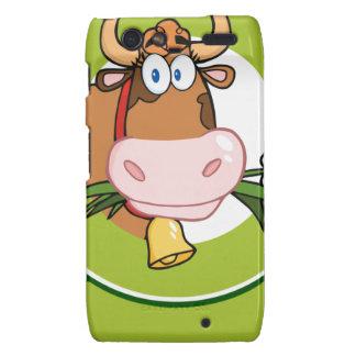 Dairy Cow Cartoon Logo Mascot Motorola Droid RAZR Case