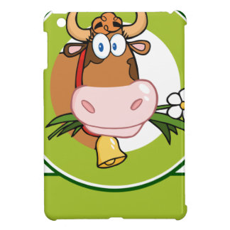 Dairy Cow Cartoon Logo Mascot iPad Mini Cases