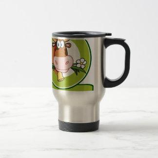 Dairy Cow Cartoon Logo Mascot Coffee Mugs
