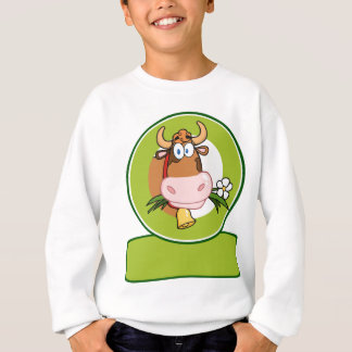 Dairy Cow Cartoon Logo Mascot Sweatshirt