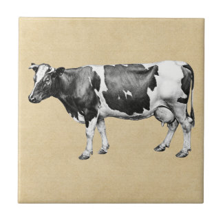 Dairy Cow Sepia Tile
