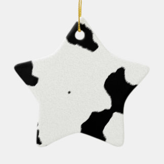 Dairy Cow Skin Christmas Ornament