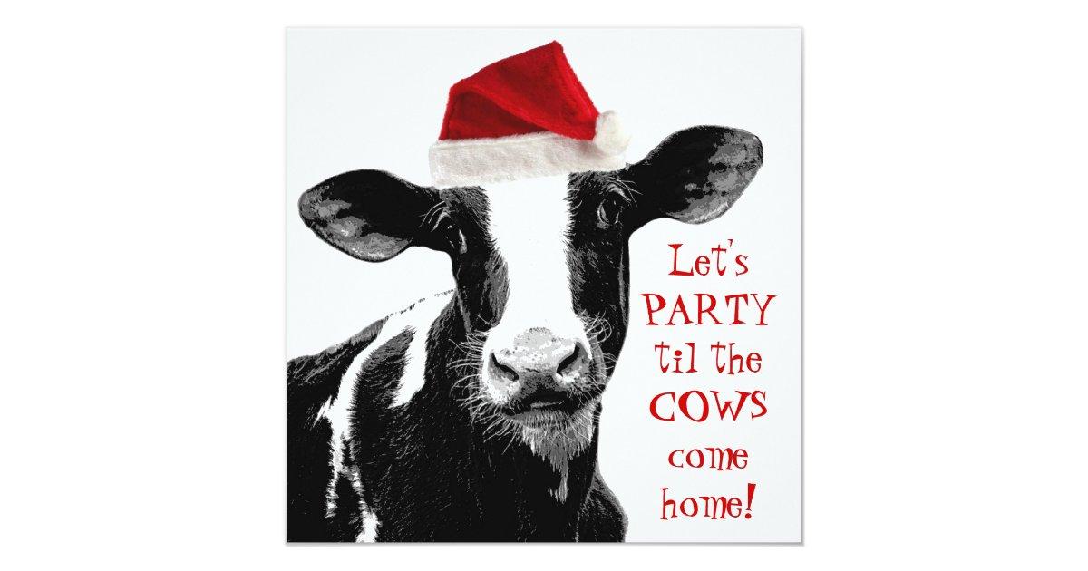 Dairy Farm Staff Christmas Party Card Zazzle Co Uk