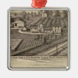 Dairy farms of RS Houston and WC White Christmas Ornament