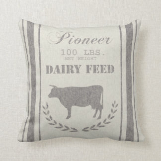 Dairy Feed Grain Sack Cushion