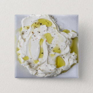 Dairy, Food, Food And Drink, Mascarpone, Cheese 15 Cm Square Badge