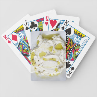 Dairy, Food, Food And Drink, Mascarpone, Cheese Bicycle Playing Cards