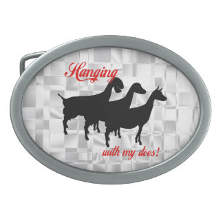 Dairy Goat Does Belt Buckle
